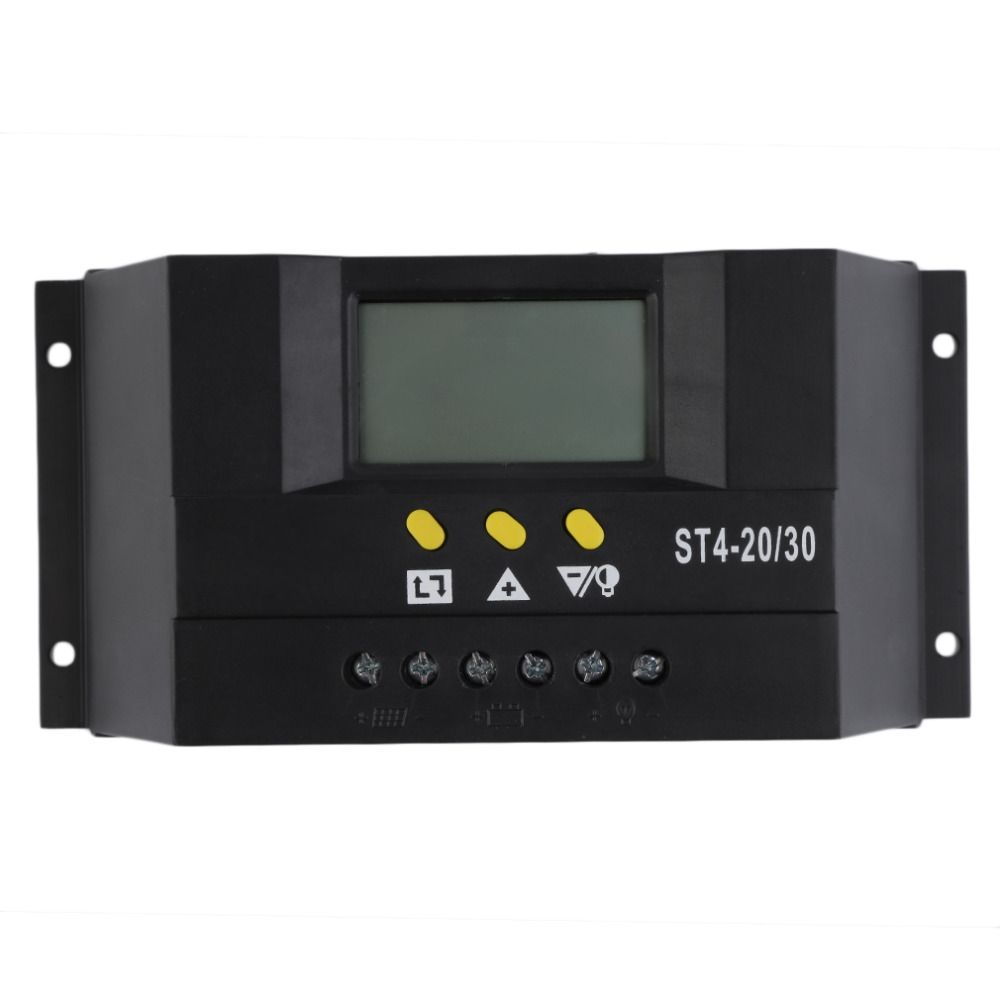 1pc 30A Solar Charge Controller 12V 24V LCD Display USB Solar Panel Charge Regulator ST4-30 hot selling