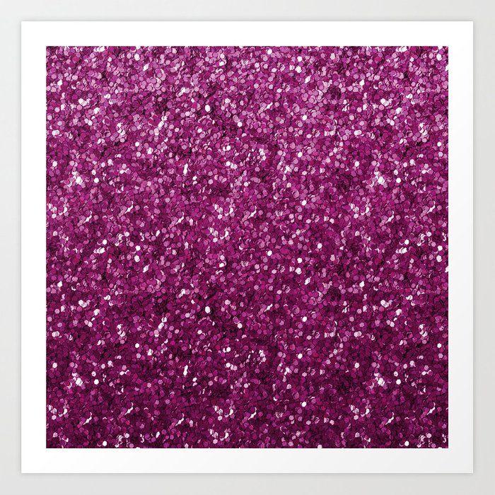 Lovely purple glitter illustration Art Print by homelovers #AD , #ad, #Ad, #glitter, #illustration, #homelovers, #purple