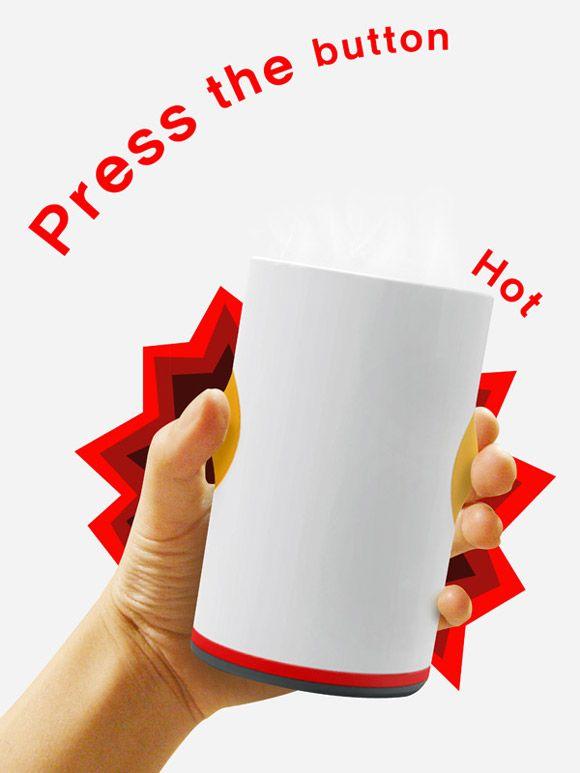Una taza que te mantiene los líquidos calientes...todo el tiempo que uno lo necesite... Burning Cup, reheats your cold coffee for you!