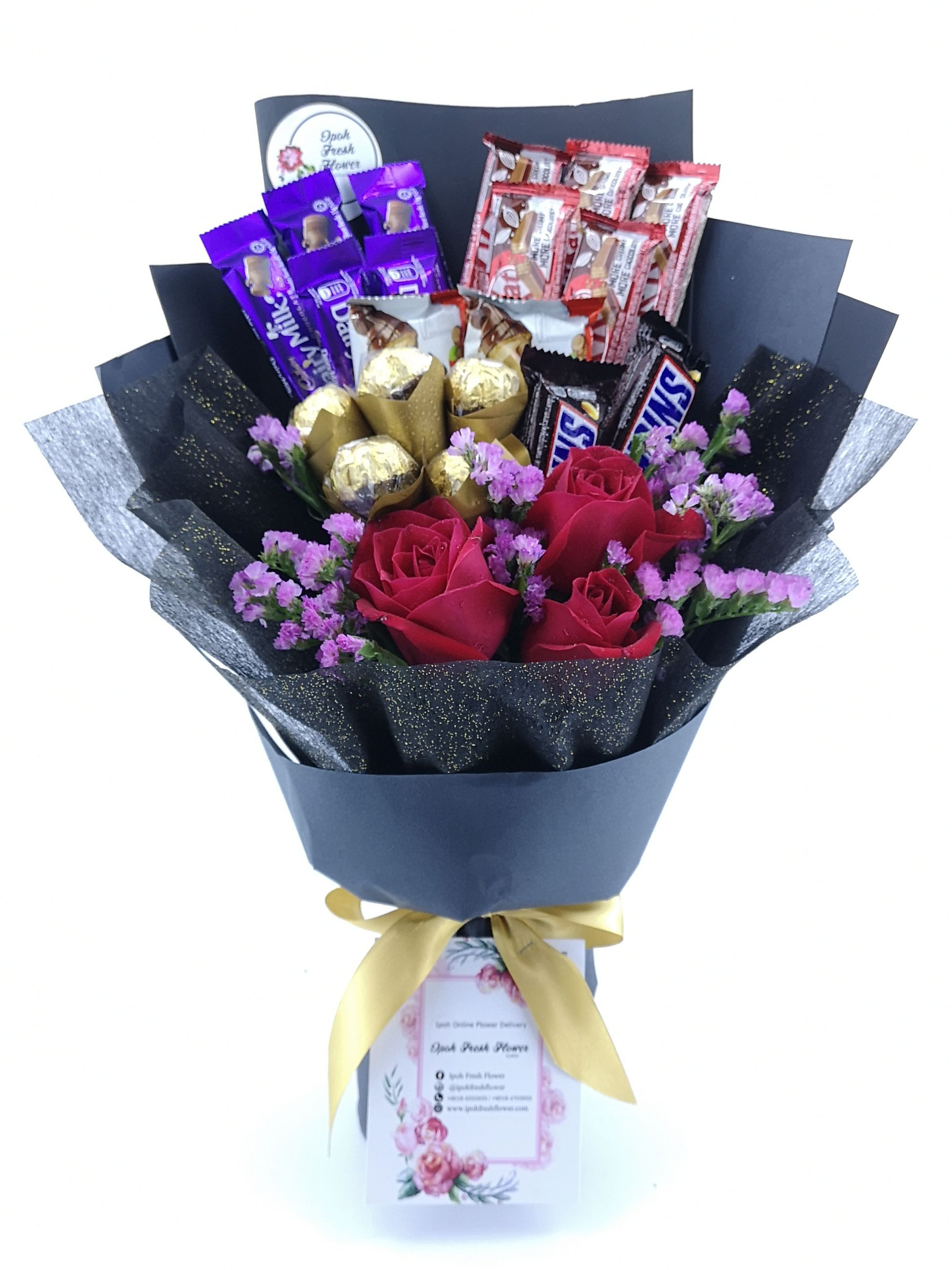 Customise chocolate bouquet for your lovelydelivery gift