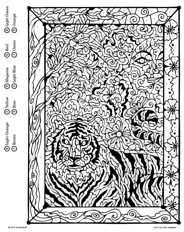 Wonderful Design Mindware Coloring Pages Color Counts By Number Book ...