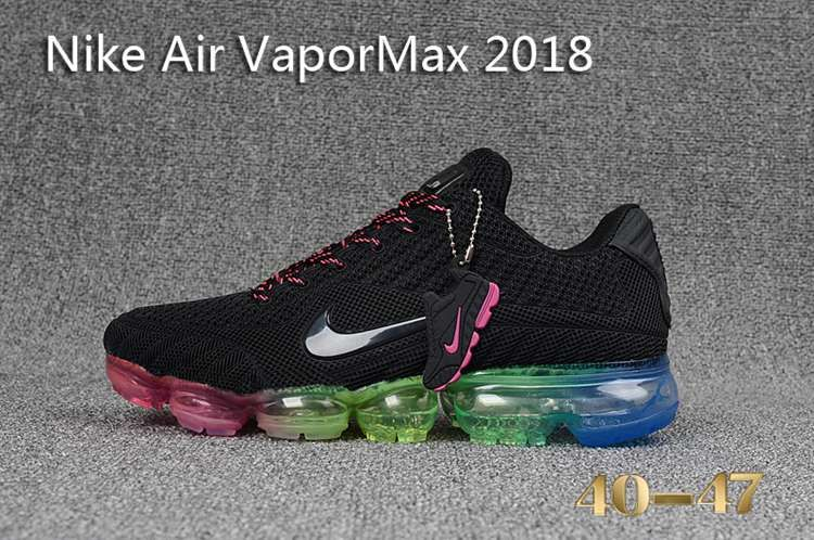 e5b7c239221 Nike 2018 Nike air Vapor MAX 2018 KPU Running Men All Black Rainbow 40-47