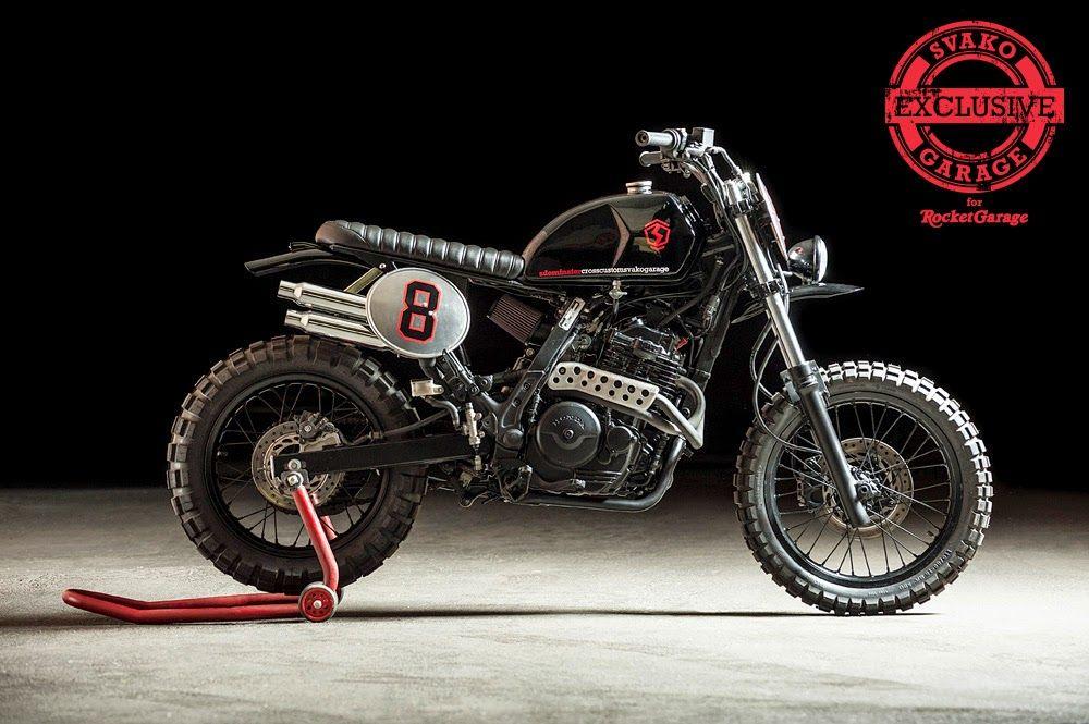 Honda sdominator cross custom svako cafe racers garage for Garage custom moto