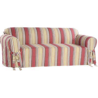 Beachcrest Home Box Cushion Loveseat Slipcover ...