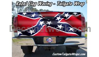 Rebel Flag Waving Tailgate Wrap Custom Vinyl Decals Pinterest - Rebel flag truck decals   online purchasing