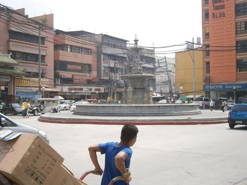 Carriedo fountain at Plaza Sta. Cruz