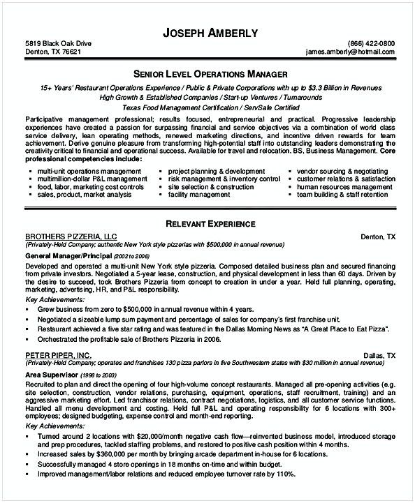 Sales Operations Manager Resume , Resume for Manager