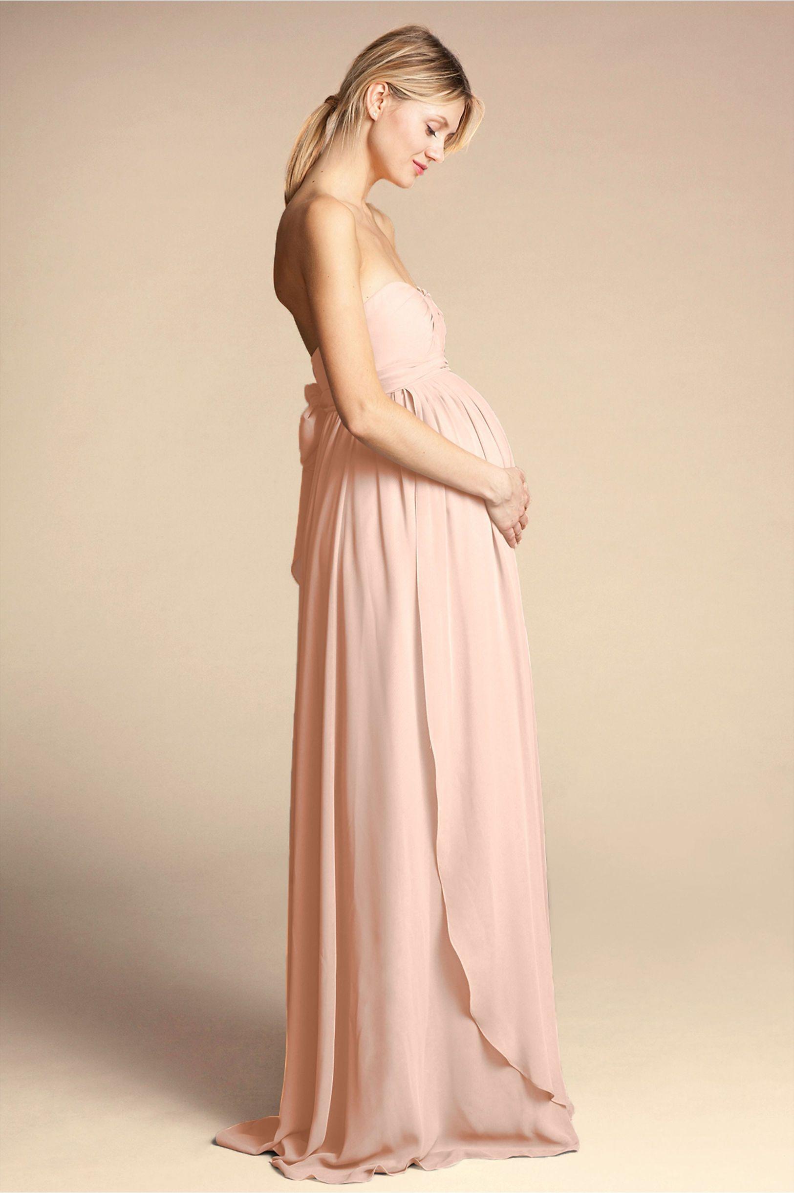 b13d0107f729a BHLDN's Jenny Yoo Cerise Maternity Dress in Blush | Products