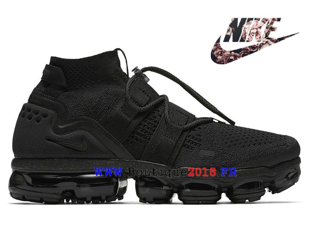buy online 0c8f5 358a0 Nike Air VaporMax Flyknit utility Pas Cher Prix Asphalt Chaussures Homme  Triple-Black AH6834-001-Nike Boutique de Chaussure Baskets Site Officiel ...