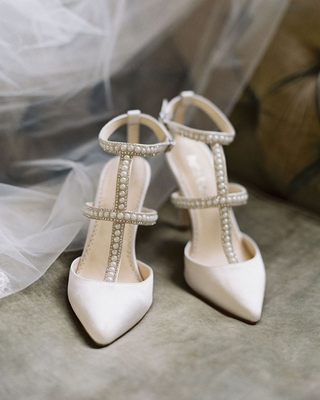 Bella Belle Shoes On Instagram A Woman Needs Ropes And Ropes Of Pearls Coco Chanel A Big Tre Fun Wedding Shoes Pearl Wedding Shoes Ivory Wedding Shoes