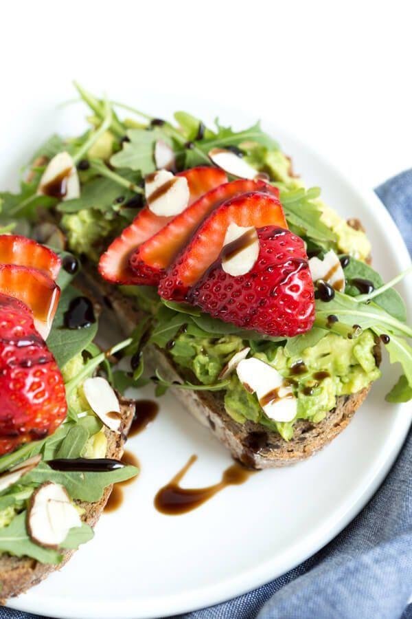 Strawberry Balsamic Avocado Toast including additional recipes for Avocado Toast!