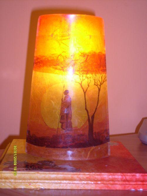 Lampada etnica con tegola Pintar