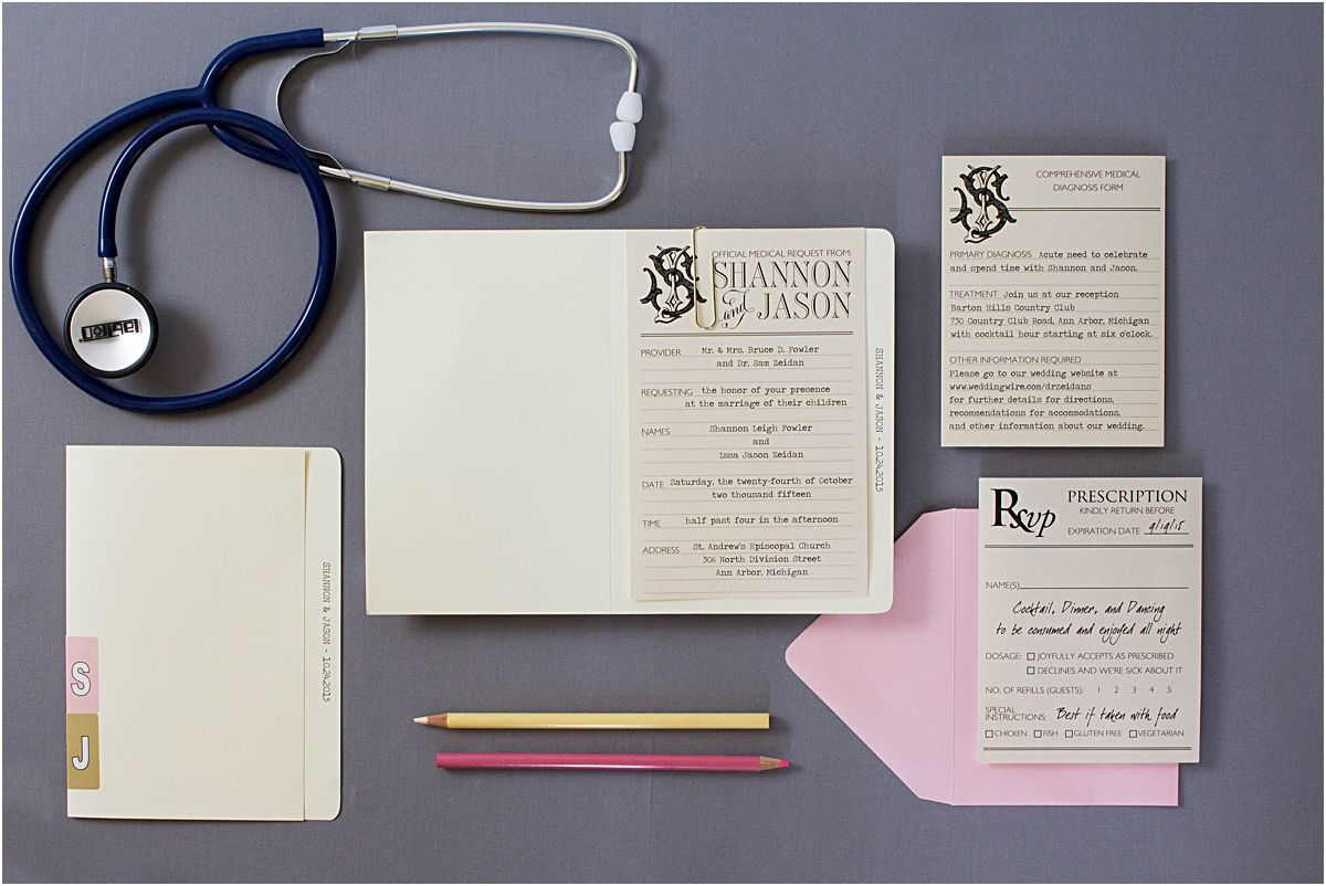 Medical Themed Wedding Invitations | Themed weddings, Response cards ...