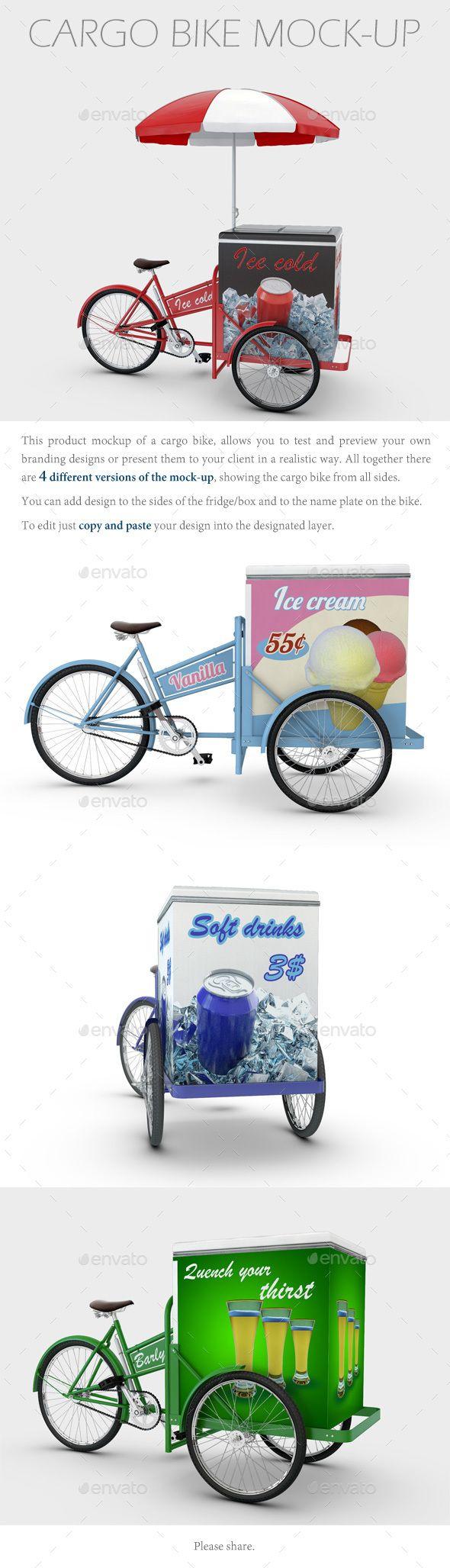 Download Cargo Bike Mock Up Cargo Bike Mockup Bike Cart