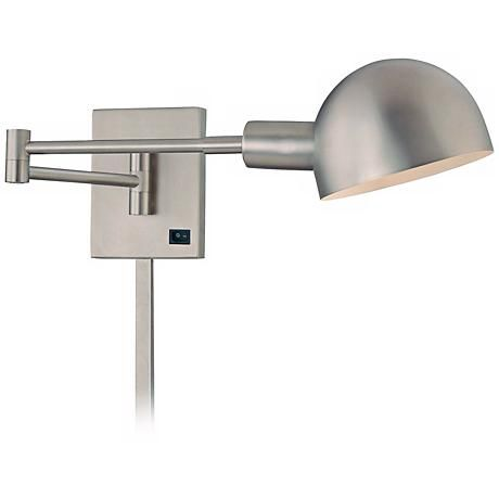 Holtkoetter Satin Nickel White Gl Swing Arm Wall Lamp 24116 Lamps Plus