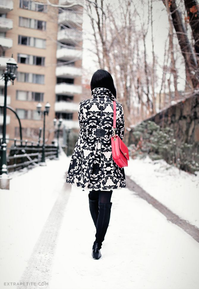 02c0a5340f Snow day  Anthropologie petites scroll coat