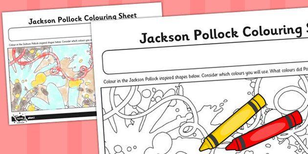 jackson pollock colouring sheet stuff to buy pinterest jackson pollock. Black Bedroom Furniture Sets. Home Design Ideas