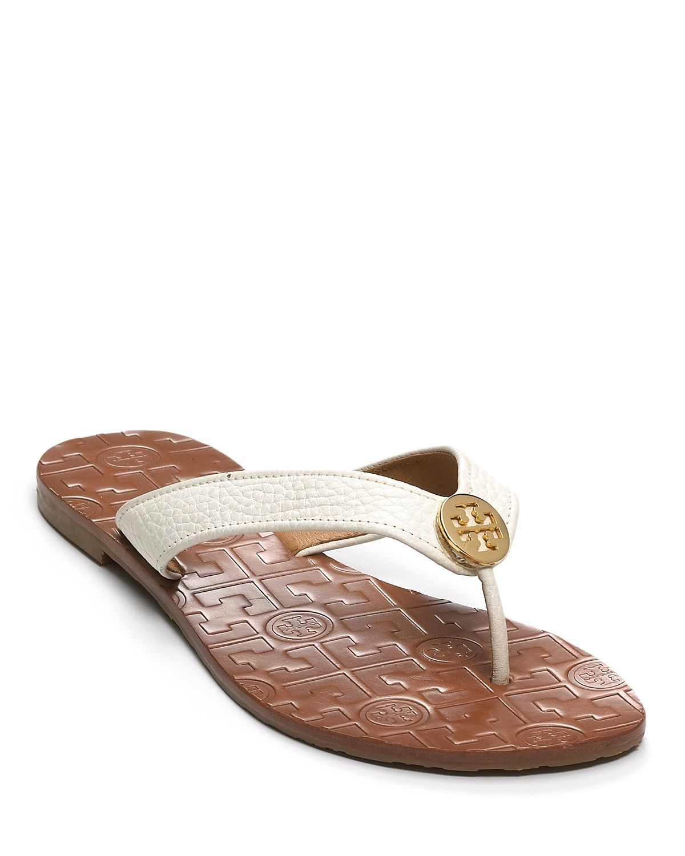 Shoes sandals flip flops - Tory Burch Flip Flops Thora Bloomingdale S Flat Sandalsflat Shoesshoes