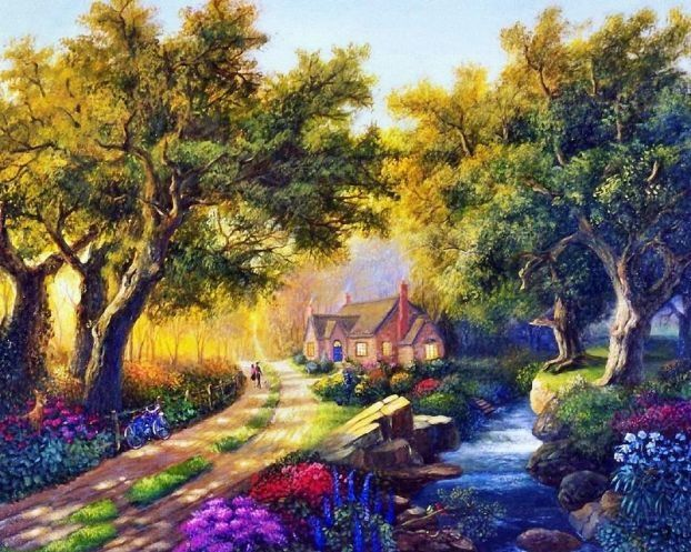 Nicky Boehme 1958 Fantasy Art Landscapes Nature Paintings Painting