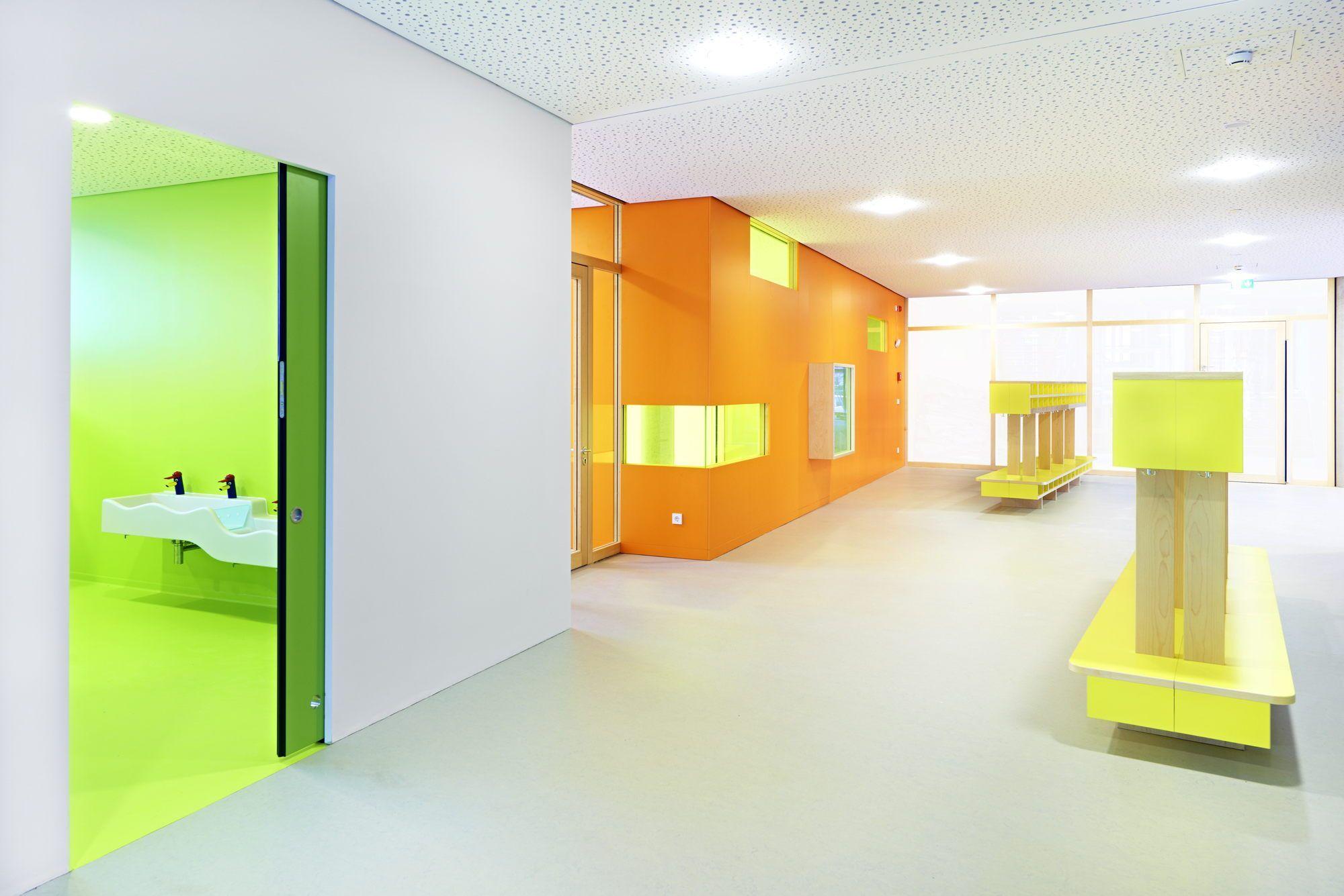 Von der farbe zur form kindergarten ensemble bei for Raumgestaltung und innenarchitektur