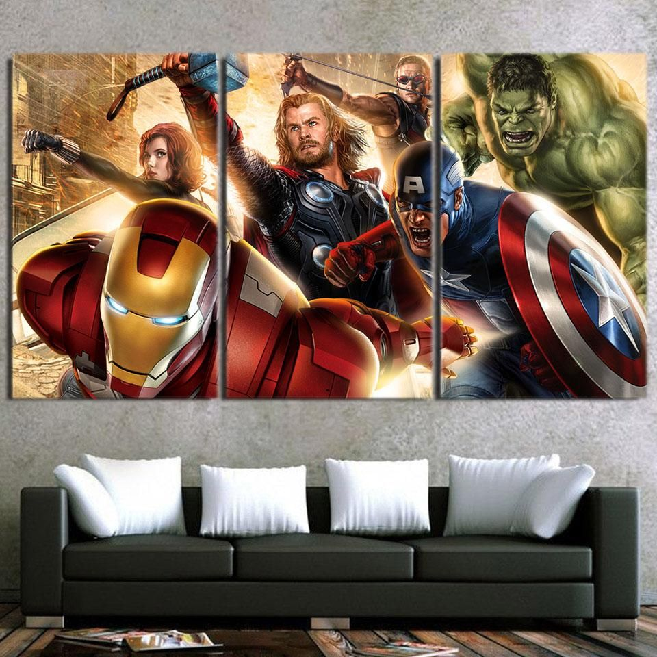 Avengers Covers Ready Framed Canvas 60x80cm Marvel