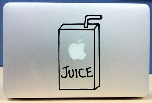 Apple juice box vinyl macbook laptop decal sticker graphic the custom vinyl shop