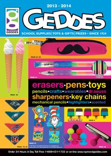 Picture of school supply catalogs from Geddes School Supplies