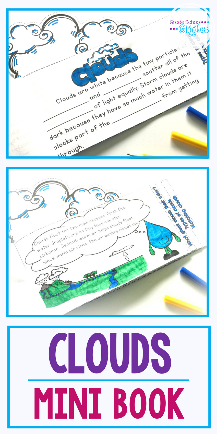 Worksheets Types Of Clouds Worksheets cloud activities and mini book grade school giggles pinterest clouds are a great science topic to teach with weather unit or lesson on