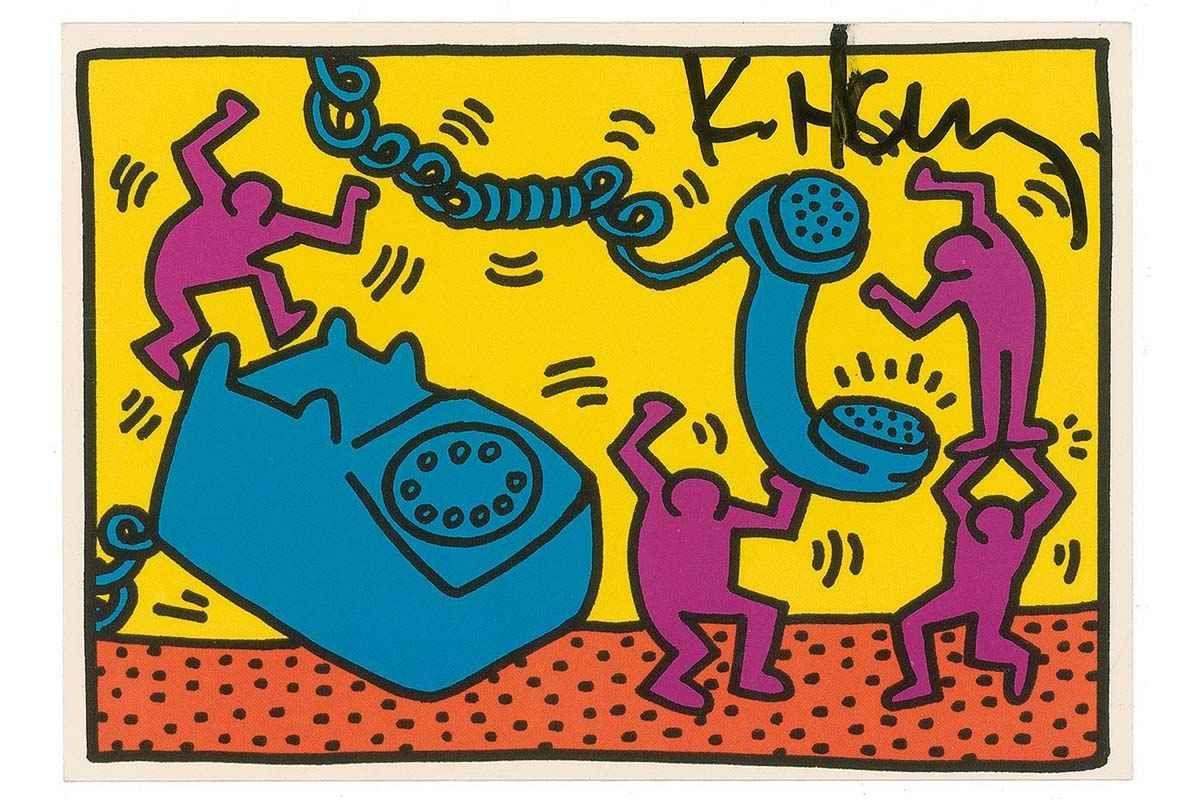 Keith Haring – Andy Mouse   Keith haring art, Keith haring and ...