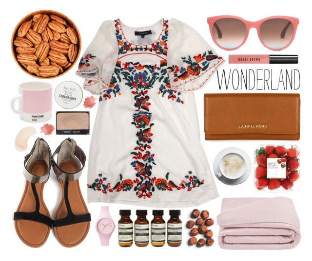 """Wonderland"" by planet-earth-is-blue ❤ liked on Polyvore featuring Gucci, Jack Wills, Pantone, Ice-Watch, NARS Cosmetics, TOMS, Frette, Michael Kors, Aesop and KORA Organics by Miranda Kerr"