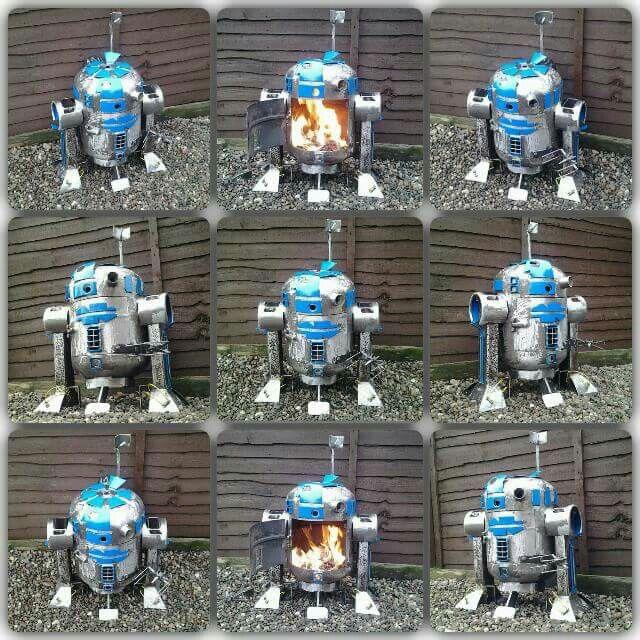Star Wars Firepit Wood Burners Art2d2 Scrap2d2 Firepit
