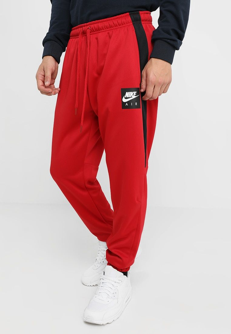 14098361 Nike Sportswear AIR PANT - Tracksuit bottoms - gym red/black - Zalando.co.uk