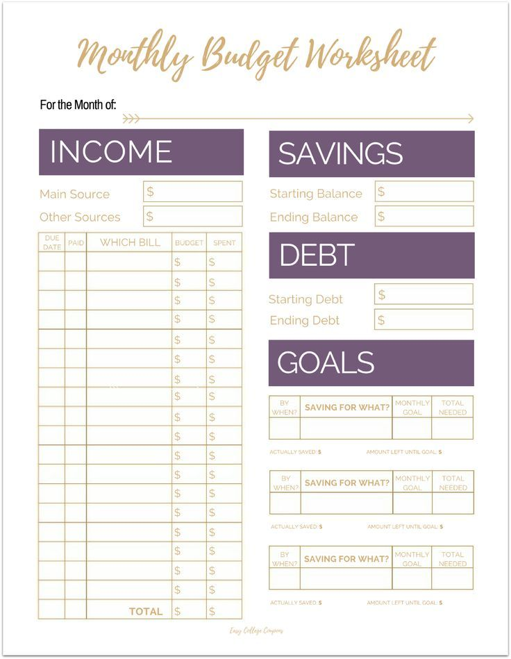 Fix Your Finances ASAP with My (Free) Simple Monthly Budget Template