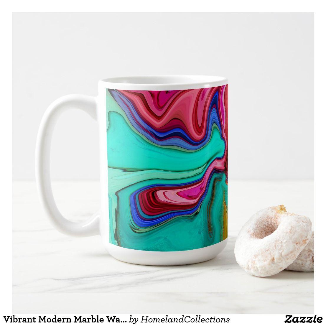 Vibrant Modern Marble Watercolor Mugs Custom Mugs Mug Cup
