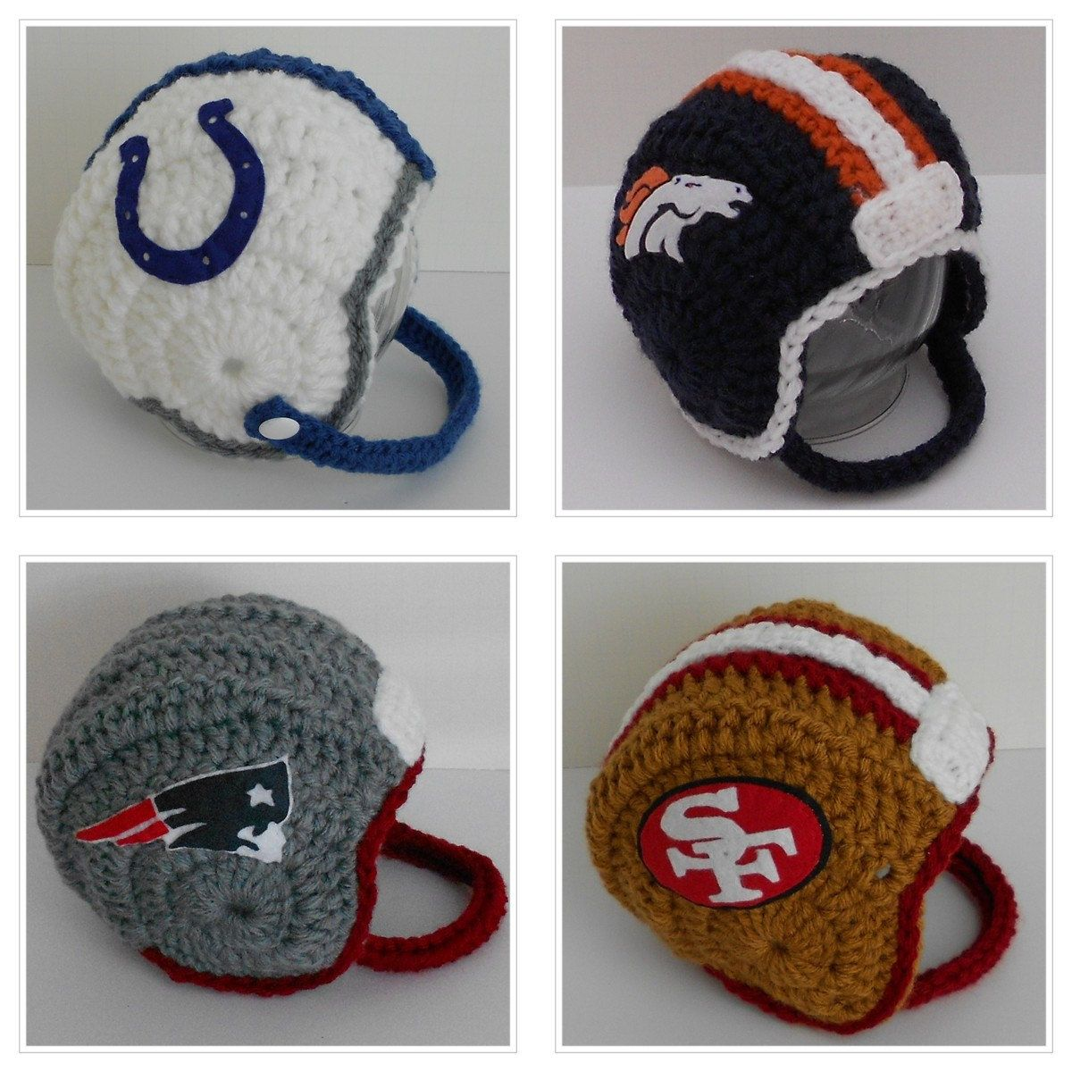 Crochet Baby Football Helmet Choose Your Team 3895 Via Etsy
