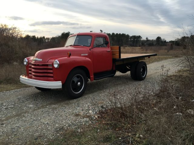 1948 Chevrolet Loadmaster 3100 Flatbed Dually Hauler Farm Business Advertising Classic Cars Chevy Chevy Diesel Trucks 1951 Chevy Truck