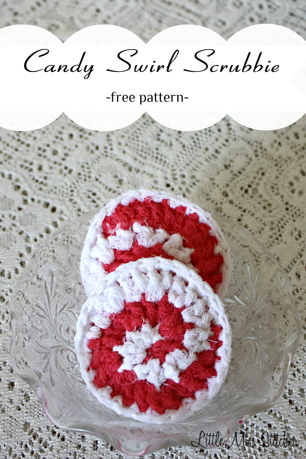 Little Miss Stitcher: Candy Swirl Crochet Scrubbie | CHRISTMAS ...