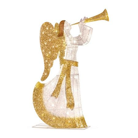 5\u0027 Lighted Animated Angel with Horn Outdoor Christmas Decoration