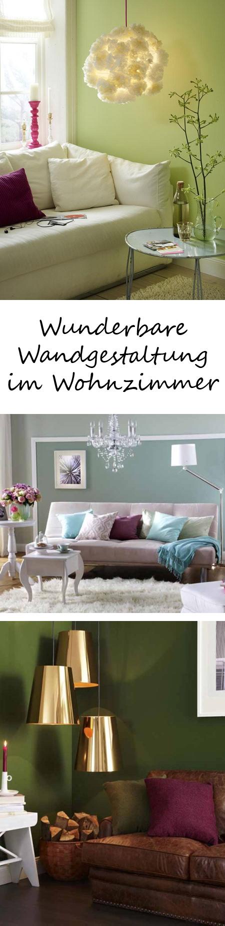 Wunderbare Wandgestaltung im Wohnzimmer | Beautiful space, Living ...