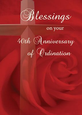 40th ordination anniversary cards