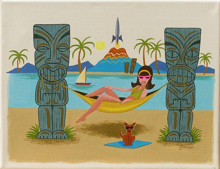 Tiki Girl Hammock by Linda Tillman