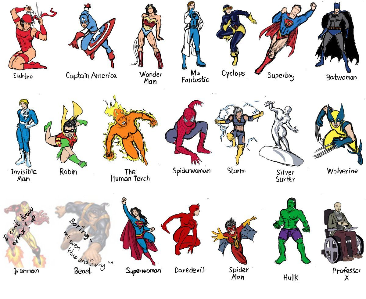 Image result for superheroes names and pictures
