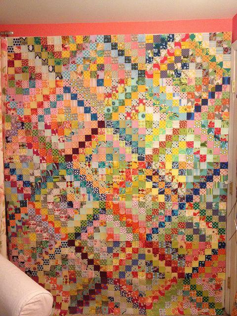 Scrappy Trip Around The World Quilt Bonnie Hunter Has A