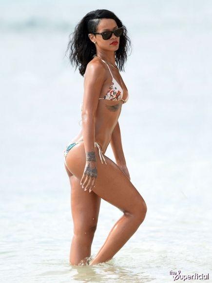 54f323637c4 Rihanna Bikini Photos: Barbados Photo Shoot | eye candy | Rihanna ...