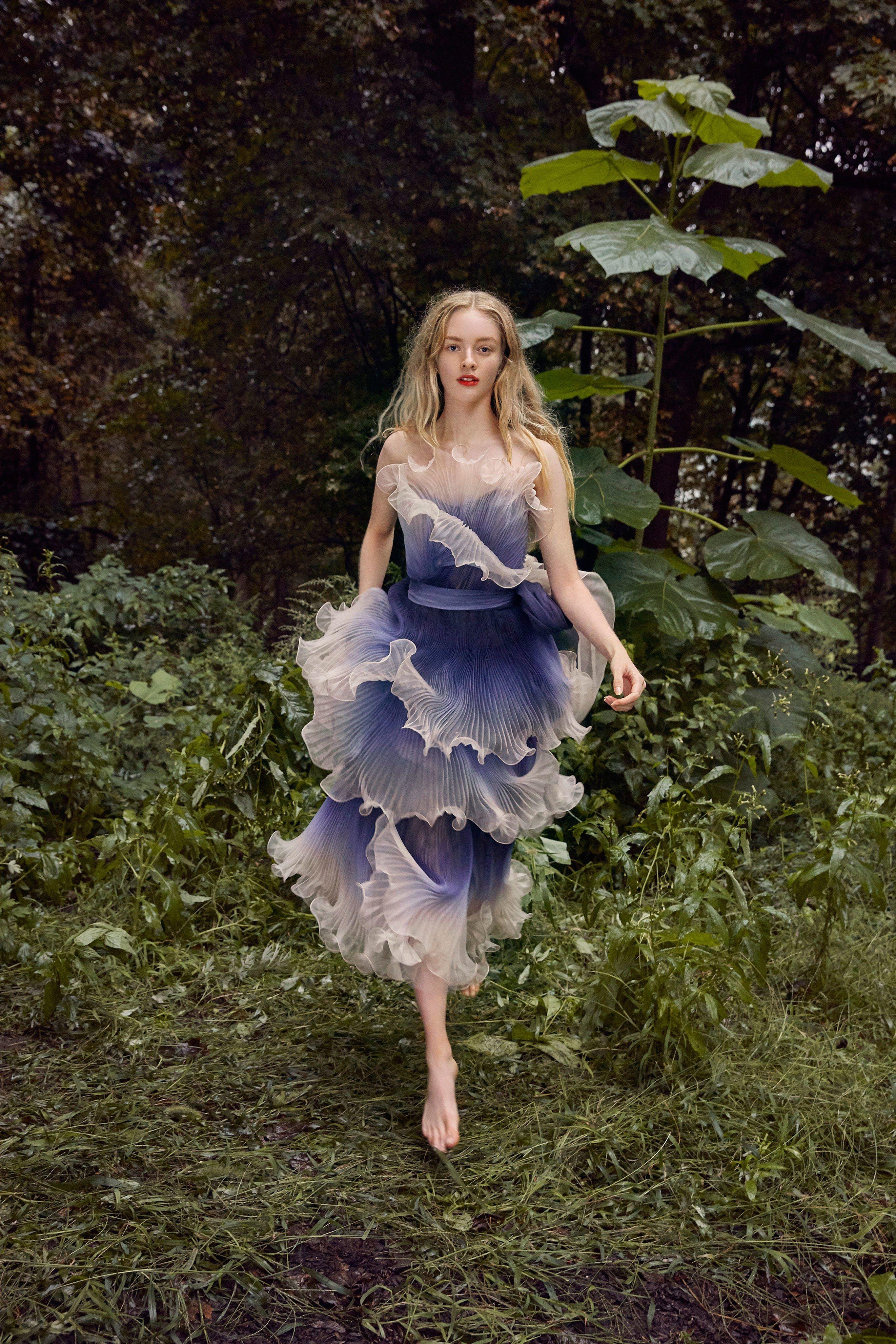 Lace wedding dress ivory january 2019 Marchesa Spring  ReadytoWear Fashion Show  amazing