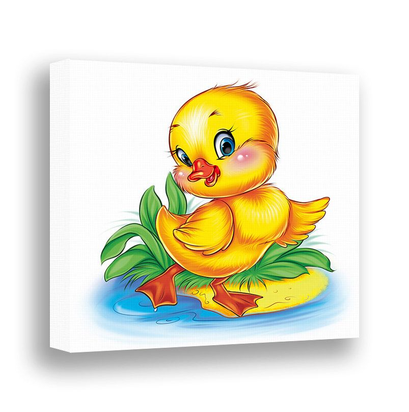 Duck Wall Art Nursery Canvas Animal Wall Decor Baby Duckling Baby ...