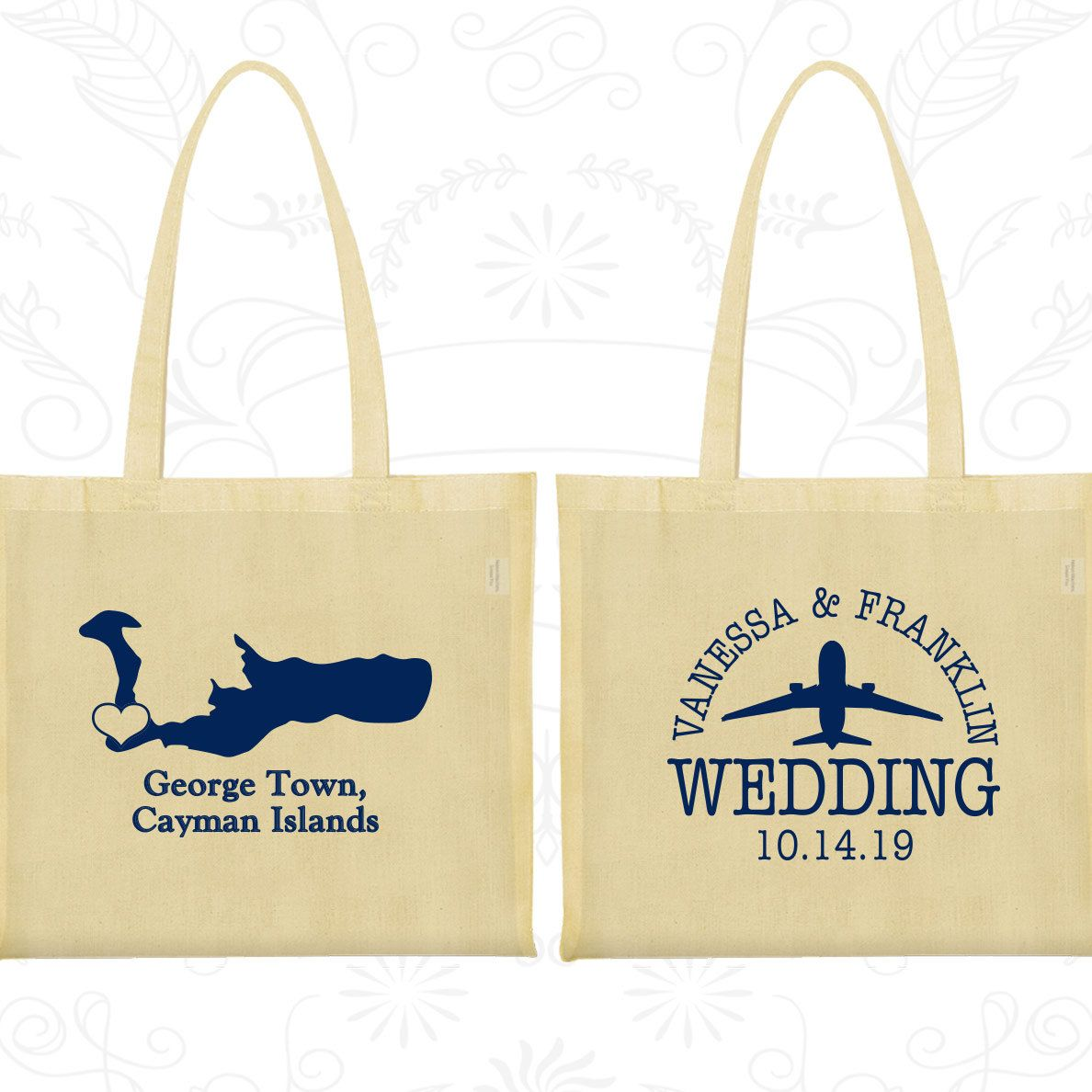 Personalized Tote Bag, Tote Bags, Wedding Tote Bags, Personalized ...