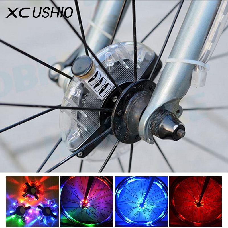 Waterproof Bicycle Wheel Led Light Bike Cycling Hubs Lights Front