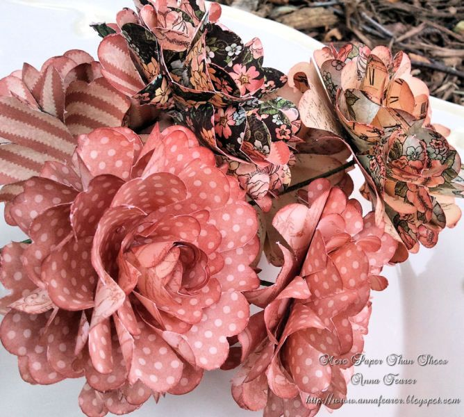 Exquisite Handmade Paper Flowers Made Out Of A Ladies Diary By