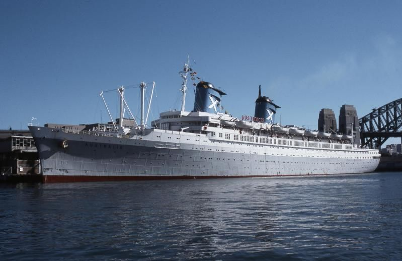 SS Australis Ex SS America In Sydney Chandris Lines Pinterest - Uss america cruise ship